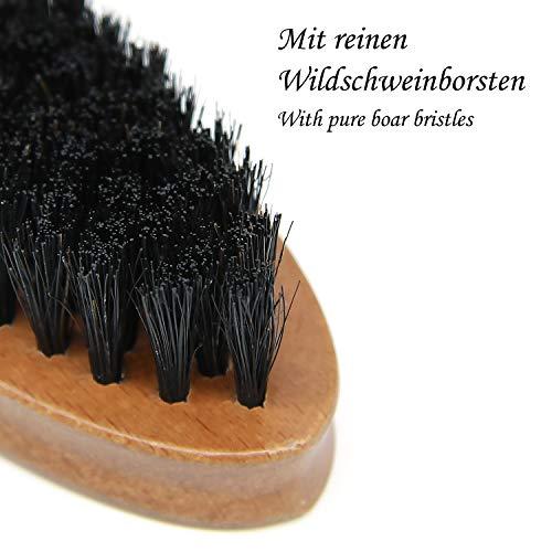 Bartbürste, Wildschweinborsten, Griff aus Shima superba Holz Abbildung 2