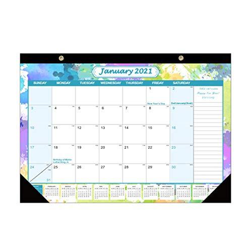 KLOVA Calendario de Pared, 2021 Calendario Anual para Colgar en la Pared Calendario Planificador mensual Diario Calendario Agenda Anual Organizador Papelería-Patrón E