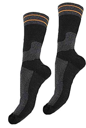 Americo R. Herren Multifunktions-Socken 2er Pack schwarz/grau/anthrazit 43-46