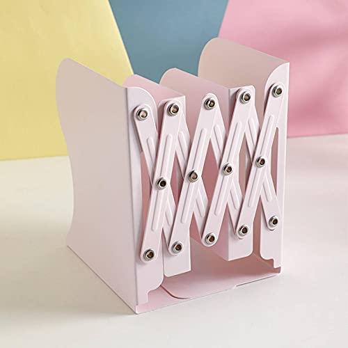 N\C Kabaxiong estantería retráctil simple estudiante oficina libro titular simple libro final escritorio hierro escritorio escritorio escritorio macaron color plegable