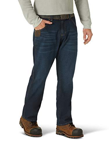 Wrangler Herren Slim Fit Five Pocket Jean Arbeitshose, Dark Stone, 33W / 34L