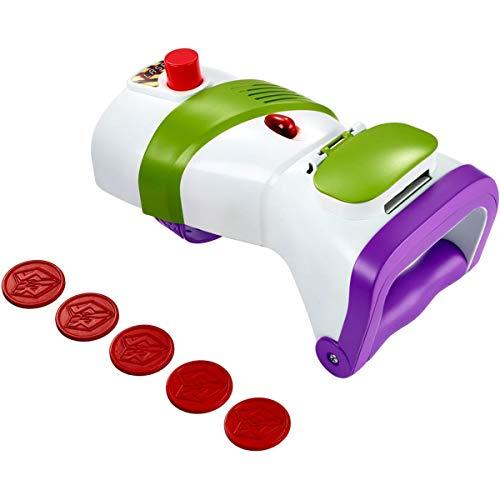 Toy Story - Disney Pixar Bracciale Blaster Lanciadischi di Buzz Lightyear, Indossabile, Spara Dischi a Raffica, per Bambini da 3+ Anni, GDP85