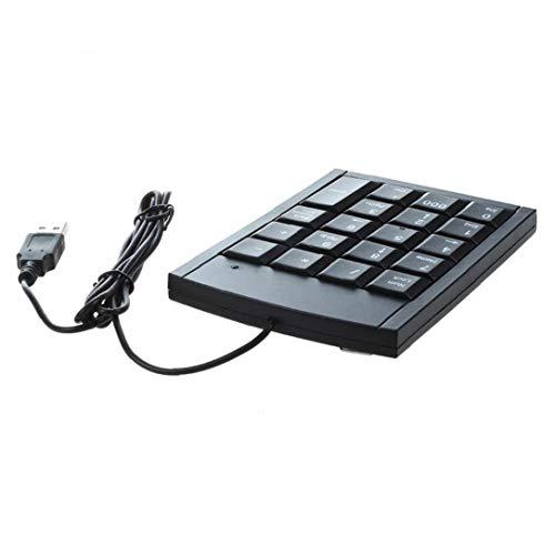 USB Numeric Keypad Portable Slim Mini Number Pad for Laptop Desktop Computer PC Big Print Letters Black Convenient Supply