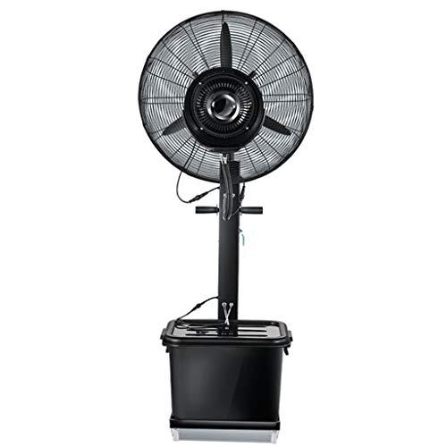 ZRFANS ventilator voor airconditioning, staande ventilator, industriële, elektrisch, stil, 3 snelheden, ventilator voor koeling op voet, 42 l, zwart