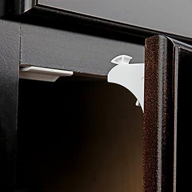 Jambini Magnetic Cabinet Locks   Child Safety Locks - No Tools or Screws Required (8 Locks + 2 Keys)