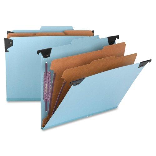 Smead 65115 Blue Hanging Pressboard Classification File Folders - Letter - 8.50quot; Width x 11quot; Length Sheet Size - 2quot; Expansion - 1quot; Folder Fastener Capacity - 2 Dividers - 23 pt. - Pressboard - Blue - 1 Each
