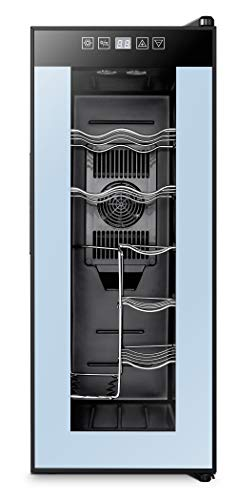 High Life DC 12 Bottle Wine Cooler Refrigerator with Thermoelectric Cooling, Optimal Drink Temperature, Iceless…