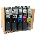 No-name Compatible Ink Cartridge Replacement for Brother LC101XL LC101 MFC J285DW J450DW J470DW J475DW J650DW J245 J870DW J875DW MFCJ285DW (2 Black 1 Cyan 1 Magenta 1 Yellow)