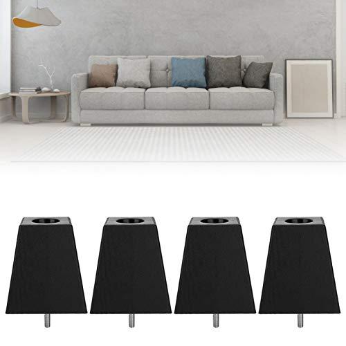SALUTUYA Larga Vida útil con Patas de sofá con Tornillo M10 Grano de Madera Negra para gabinete Cómodo de Quitar Fácil de Usar para Muebles