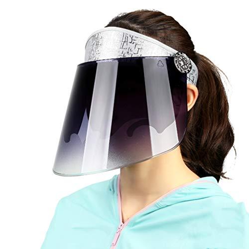 Sombrero para el sol Visera Deportiva Gorra Anti-UV Circunferencia De La Gorra Ajustable Protección De La Piel Fácil De Transportar Sombrero De ala Ancha