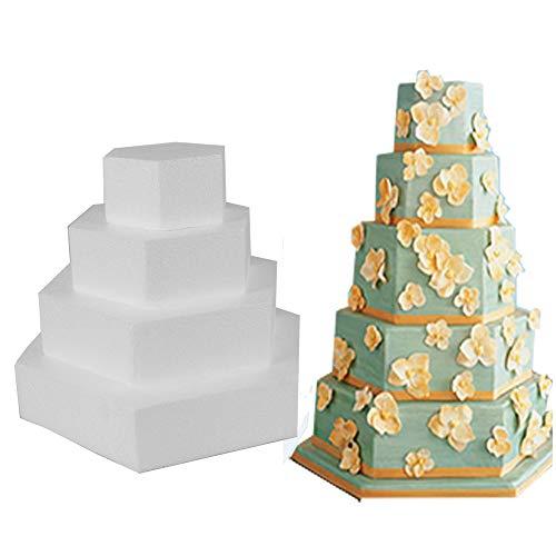 Lemon-Land Dekorationen der Parteien Sugarcraft Backwaren Styropor Schaum Cake Mould Backende Molde Übendes Modell Kuchen Dummy(6inch)