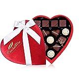 ChocolateWise Gourmet Chocolate Gift Box Heart Shaped Assorted Variety Choco Truffle Gift Basket 14 Piece