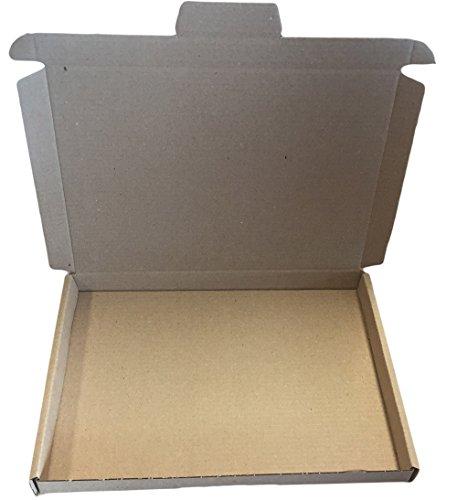 Grote brievenbus 230 x 160 x 20 mm bruin 100 stuks goederen verzending DHL brief dimapax