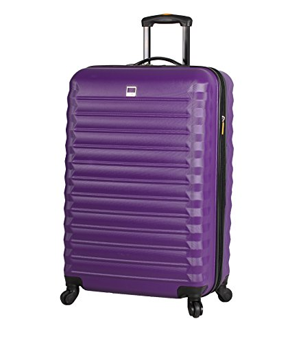 Lucas Treadlight 20 Inch Carry On Luggage Collection -Expandable Scratch Resistant (ABS + PC) Hardside Suitcase- Lightweight Durable Checked Bag With 4-Rolling Spinner Wheels (Purple)