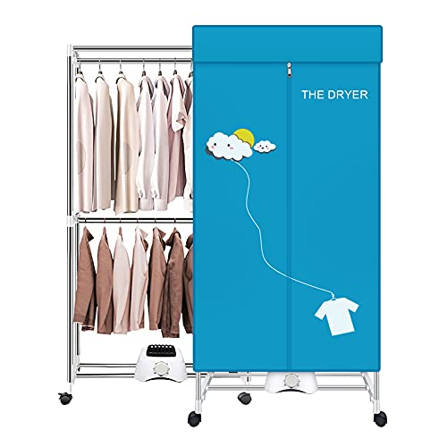 Portable Dryer,110V 1000W Electric Clothes Dryer Machine...