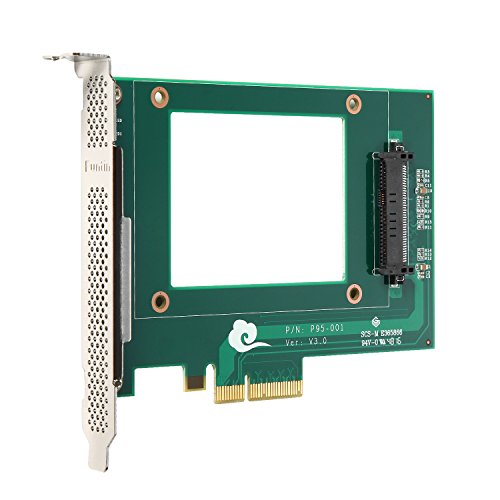 """Funtin PCIe NVMe SSD Adapter with U.2 (SFF-8639) Interface for 2.5"""" NVMe SSD"""