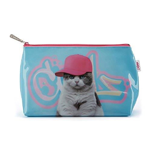 Catseye Kulturtasche Graffiti Cat Washbag Beauty Katze Groß Reise Mäppchen Tasche