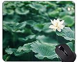 Yanteng Alfombrilla de ratón Antideslizante para Juegos de Mesa Lotus - Alfombrilla de Goma Antideslizante Lotus Leaf