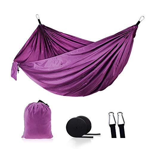 LIANYG Hammock Waterproof Parachute Cloth Material Outdoor Garden Hammock 144 (Color : Purple)
