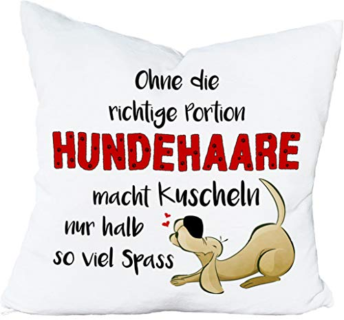 Cadouri Kissen » Hundehaare « Dekokissen Kuschelkissen ︎ flauschig weich ︎ 40 x 40 cm