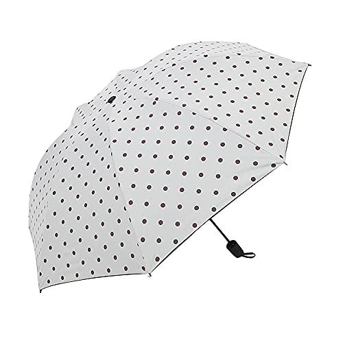 Mabor Paraguas de lluvia de viaje con protección UV a prueba de viento, paraguas plegable compacto para viajes, lluvia, sol, mini paraguas portátil ligero plegable para mujeres y hombres