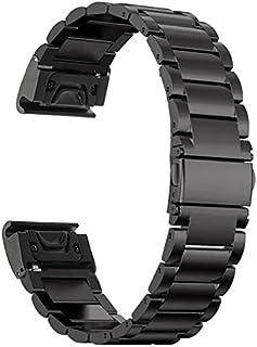 Yooside 26mm Replacement Watch Band Stainless Belt for Garmin Fenix 5X/3/3 HR/ D2 Charlie/Descent Mk1 Quick Release