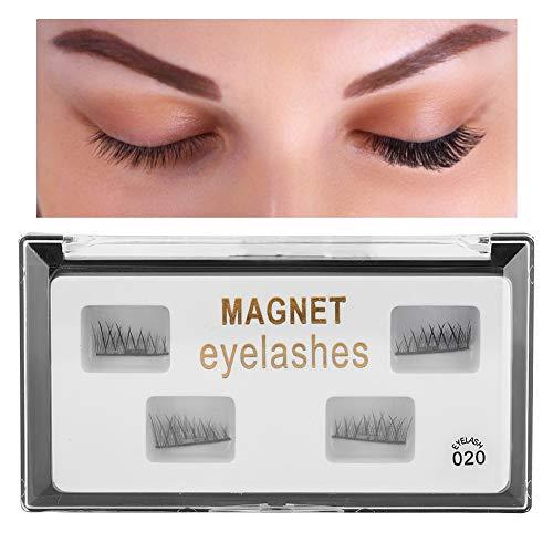 Cils magnétiques réutilisables, kit de cils magnétiques 3D amélioré Eyeliner magnétique sans colle nécessaire Cils magnétiques réutilisables Faux Faux Faux Aimant Extension(020)