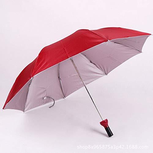 NJSDDB paraplu Creatieve Vrouwen Wijnfles Paraplu 3 Vouwen Zonne-regen UV Mini Paraplu Voor Vrouwen Mannen Geschenken Regenkleding Paraplu verkoop, Wijn Rood