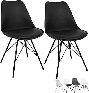 Draht Stuhl Modern Design Industrie 2 Stück