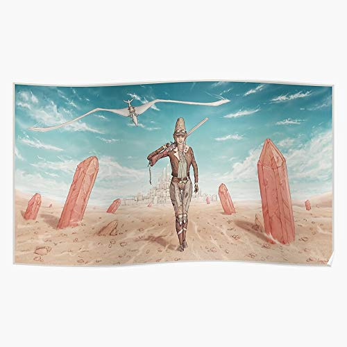 Moebius Herm?tique Travel Widescreen Traveller Garage Fanart Fan Art Desert Geschenk für Wohnkultur Wandkunst drucken Poster 11.7 x 16.5 inch