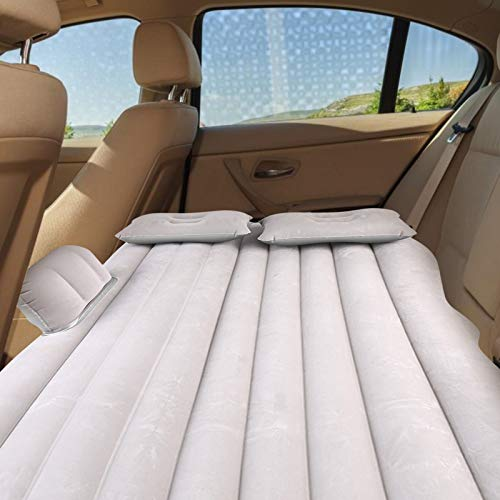 Dancal Auto Luftmatratze, Auto aufblasbare Bett Rücksitz Matratze Luftmatratze für Ruhe Schlaf Reisen Camping(Silver Gray)
