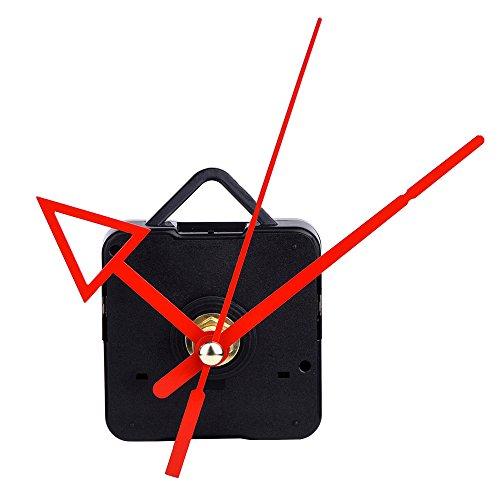 Mudder Quarzuhrwerk Mechanismus DIY Reparaturwerkzeug Kit mit dreieckigen roten Zeigern, 3/25ZollMaximaldialdicke,1/2ZollGesamtwellenlänge