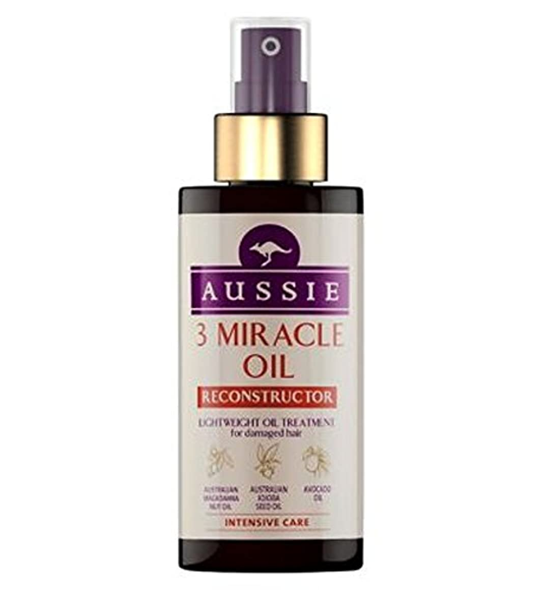 拮抗自発的反論者傷んだ髪の100ミリリットルのためのオージー3奇跡のオイル再構成 (Aussie) (x2) - Aussie 3 Miracle Oil Reconstructor for Damaged Hair 100ml (Pack of 2) [並行輸入品]