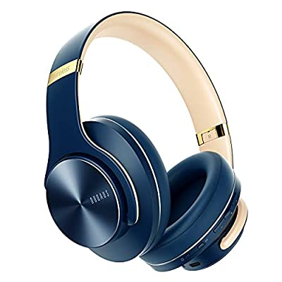 DOQAUS Bluetooth Headphones Over Ear, Wireless Headphones with Mic, 52 Hours Playtime, 3 EQ Modes, Foldable Headset with Soft Memory Protein Earpads, Bluetooth 5.0 & Wired Mode for Cellphone from DOQAUS