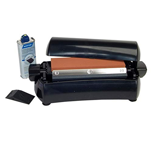 Norton Abrasives IM200 Home Tri-Stone Sharpening System Includes 8
