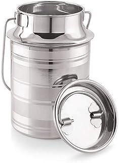 King International 100% Stainless Steel Milk Storage Can Milk Canister Doli | Dolu | Dolchi Milk Bucket Gallon Milker - 1....