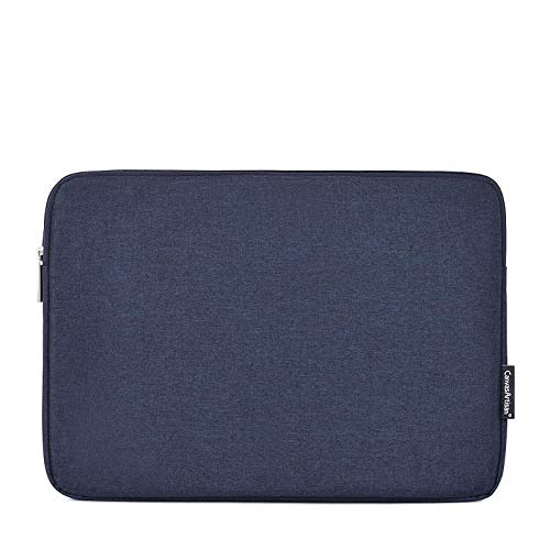 15.6-inch PC Suitable for MacBook Air Pro Retina 11 13 14 13.3 15-inch Canvas Laptop Protective Cover Laptop Sleeve-Navy_13-inch