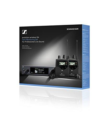 Sennheiser Pro Audio Sennheiser ew IEM G4-Twin-A1 in Ear Monitor System w/ 2 Belt Packs Range (470-516Mhz), Dual Beltpack