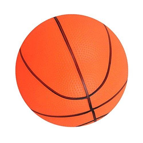 Sitrda - Balón de baloncesto pequeño de 6 pulgadas para niños, pelota de mano suave y rebotadora, color naranja