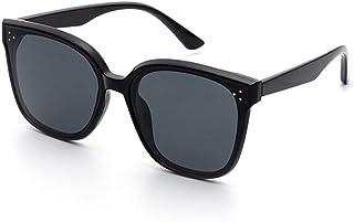 Gosunfly - Gafas de tinta, gafas de moda para mujer, gafas de sol para hombre anti-UV, línea UV de polarización (con estándar) _F (Jennnie es adecuada para cara redonda)