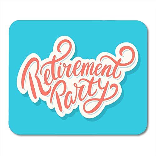 Yanteng Mouse Pads Mensaje Celebración Retiro Fiesta Feliz Evento Saludo Etiqueta Nota Mouse Pad para notebooks