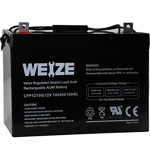 Weize 12V 100AH Deep Cycle AGM SLA VRLA Battery review