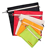 HORUSDY 5 Pack Multi-Purpose Zipper Tool Bags, Canvas Tool Pouch, Organization Bags (Zipper Bags)