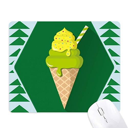 Green Matcha ijs kegels Popsicles muismat groene dennenboom rubberen mat