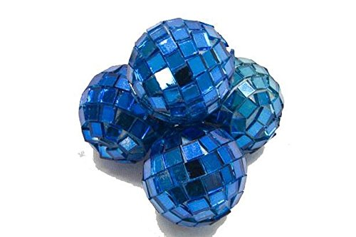 HB - Mini Boules à facettes Turquoise x4
