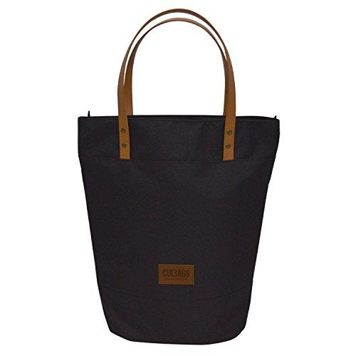 C-BAGS Shopper Elegance Gepäckträger Fahrradtasche Fahrrad Tasche Handtasche (Black)