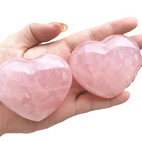 KDHJY Natural 1pc en Forma de corazón de Piedra Rosa de Rose Natural del Cristal de Cuarzo del corazón Especímenes Piedras y minerales Naturales Cuarzo Rosa (Color : 150 160 Grams)