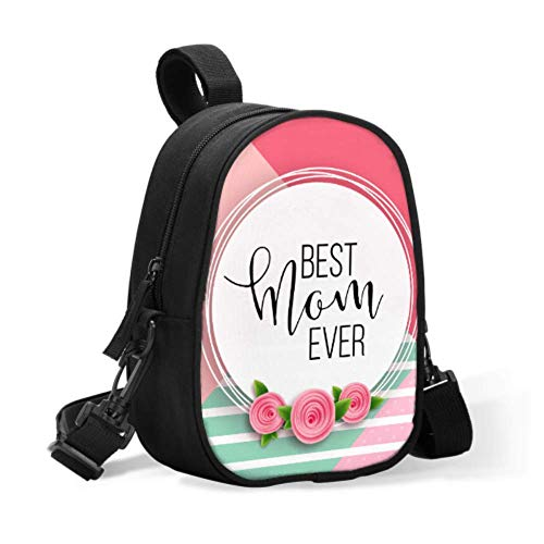 Lunch Bag Best Mom Ever Pink Rose Lunch Bags for Kids Toddler Lunch Bags Easily Attaches to Stroller for Travel Baby Bottle Warmer Or Cool