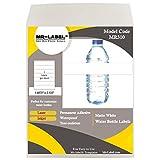MR-Label Étiquettes de bouteille d'eau imperméables blanches - pour imprimante à jet d'encre et laser - pour 16,9 oz. Bouteille d'eau - 210 x 40 mm (175 étiquettes)