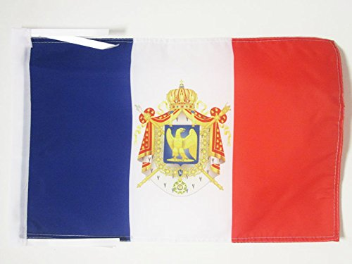 AZ FLAG Napoleon First French Empire Flag 18'' x 12'' Cords - Napoleonic Empire of France Small Flags 30 x 45cm - Banner 18x12 in